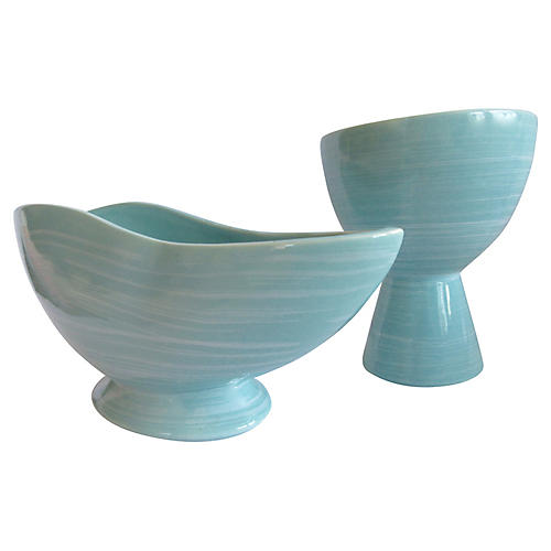 Mid-Century Modern McCoy Pottery, S/2