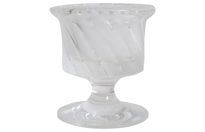 Lalique French Crystal Swirl Urn
