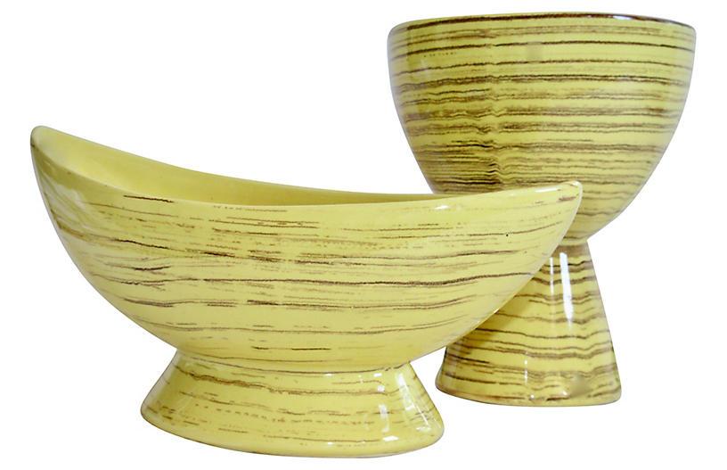 Mid-Century Modern McCoy Pottery S/2