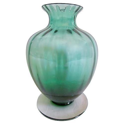 Baccarat French Crystal Pedestal Vase