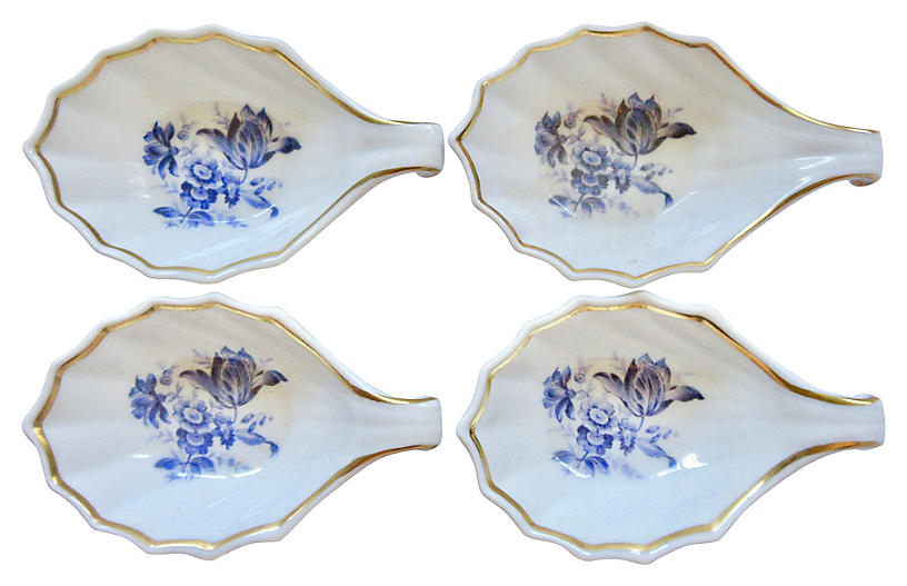 Ginori Porcelain Tulip Dishes, S/4