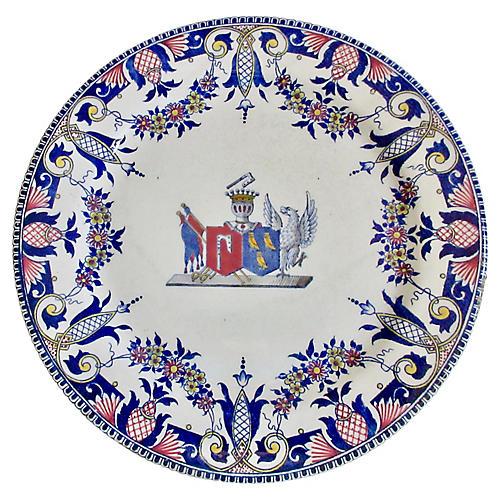 Antique French Faience Pedestal Platter