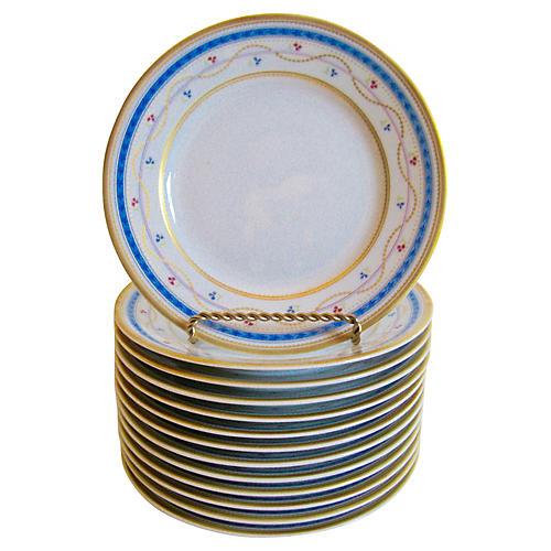 Faberge Limoges Porcelain Plates, S/13