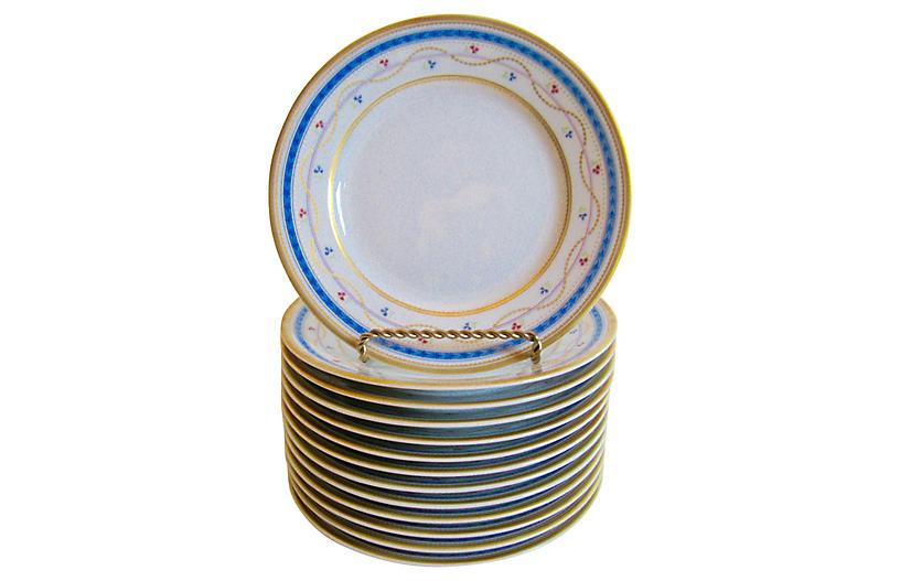Faberge Limoges Gilt Canape Plates S/13