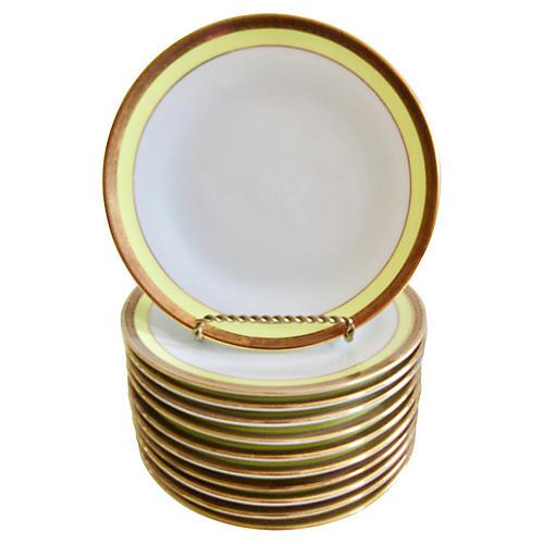 Ginori Italian Porcelain Plates S/10