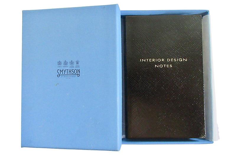 Smythson Interior Design Journal w/Box