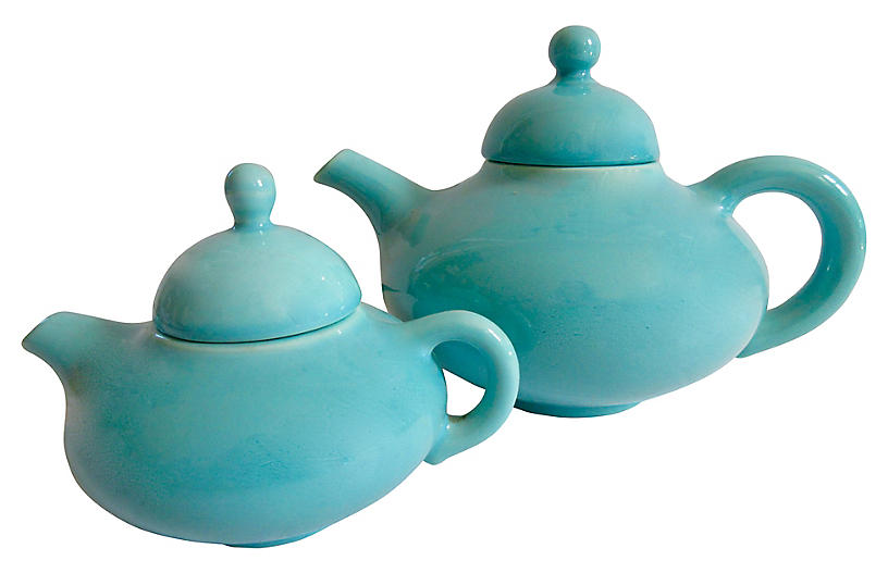 California Pottery Teapots, C.1940
