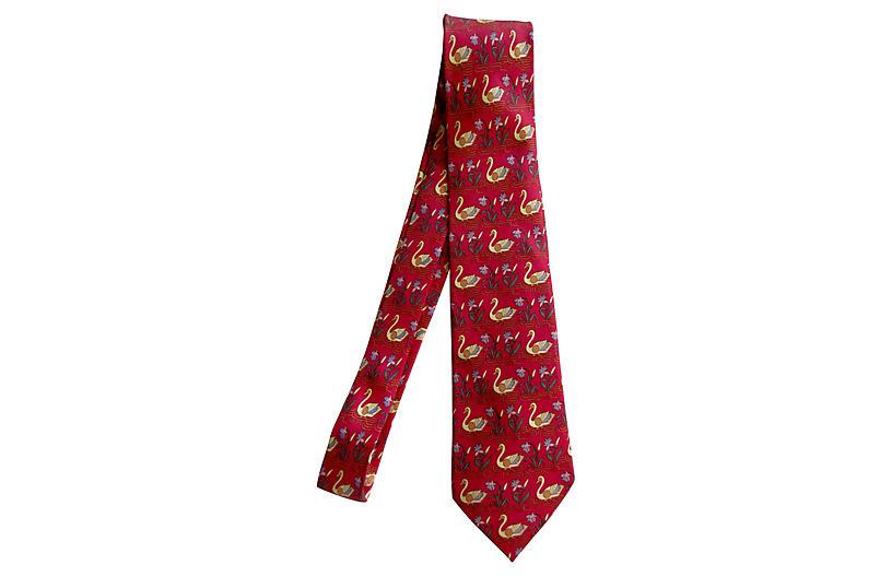 Hermès Swan Tie