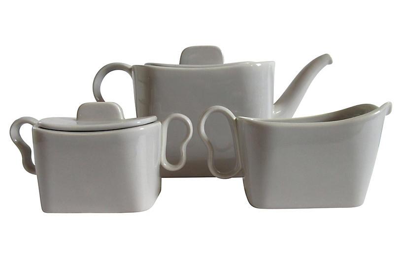 California Pottery Tea Set, 3 Pcs