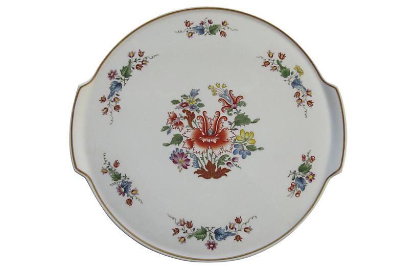 Ginori Italian Porcelain Cake Plate