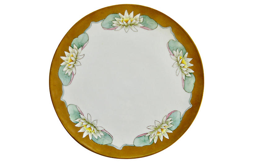 Early 1900s French Porcelain Cake Plate