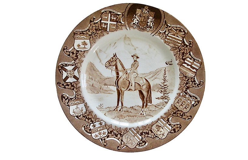 Clarice Cliff Canadian Mountie Plate