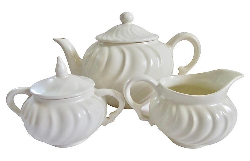 1940s California Pottery Tea Set