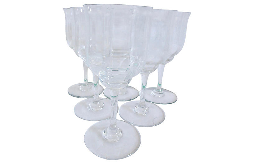 Baccarat Capri Wine Glasses, S/6