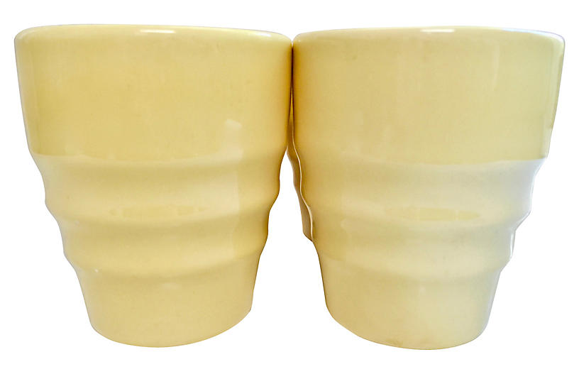 1930s California Pottery Tumblers S/4