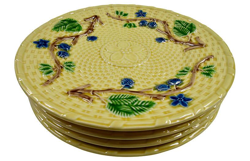 Tiffany & Co. Majolica Plates S/4