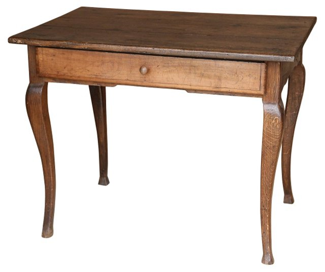 19th-C. French Walnut Table