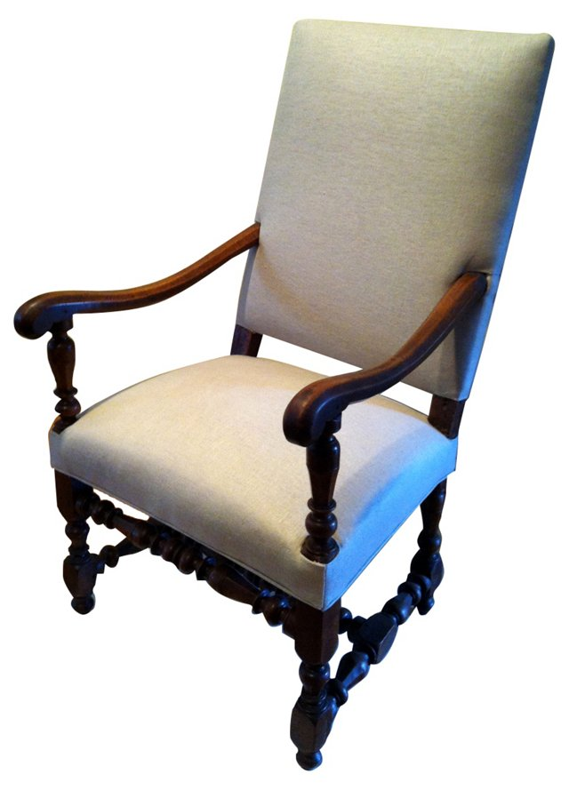 19th-C. French  Fauteuil