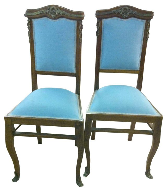 French Side Chairs, Pair
