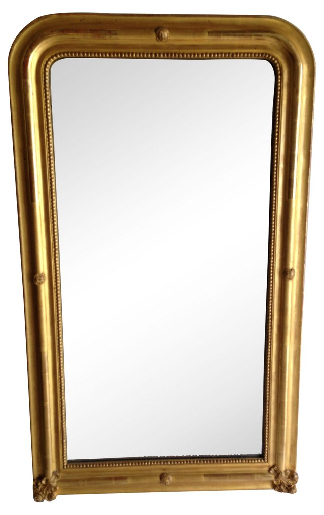 Gold Louis Philippe-Style Mirror