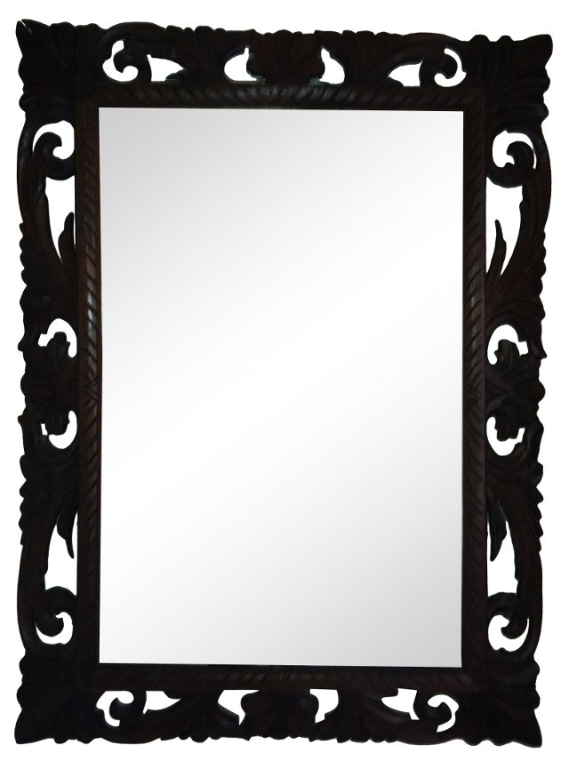 Carved Hunt Mirror