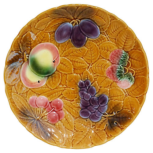 French Majolica Fruit Platter