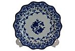Antique Delft Scalloped Plate