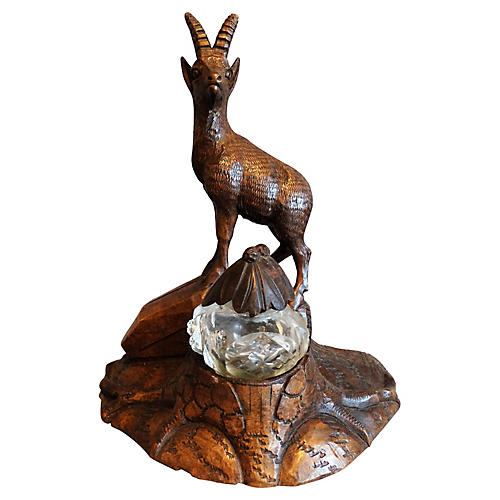 Black Forest Stag Inkwell, C.1890