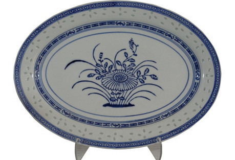 Blue & White Chinese Cabinet Platter