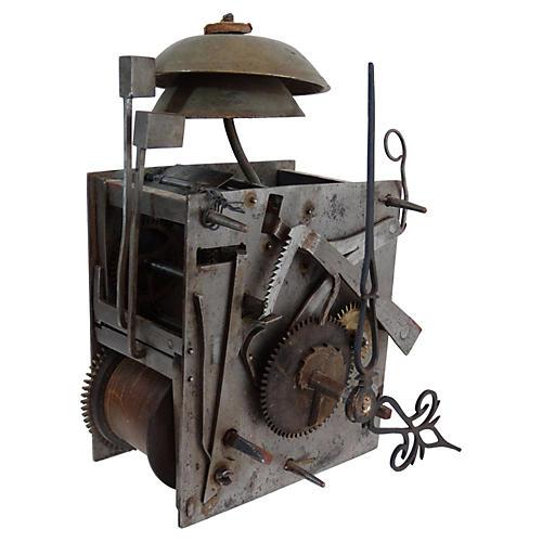 19th-C. Tall Case Clockworks