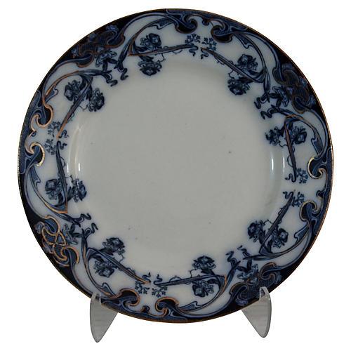 Staffordshire Iris Flow Blue Wall Plate