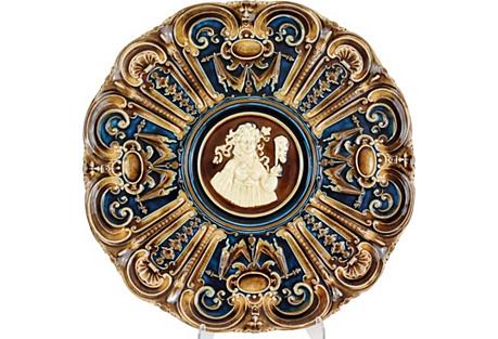 Art Nouveau Majolica Platter