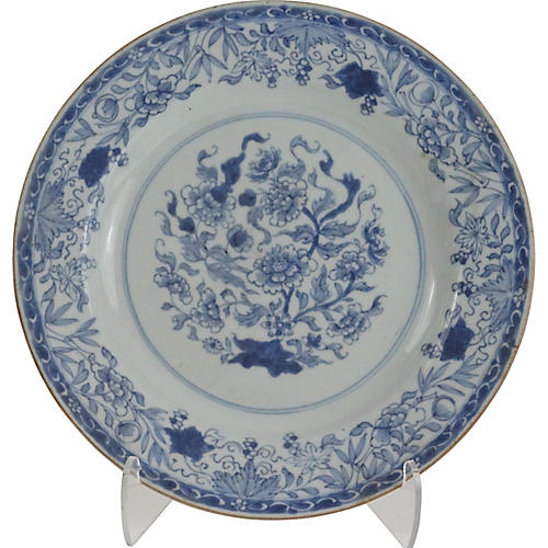 Antique Delft Blue & White Plate
