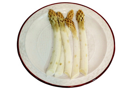 Antique French Asparagus Cabinet Plate