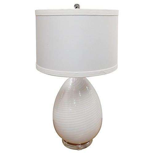Murano Vetri Egg Table Lamp