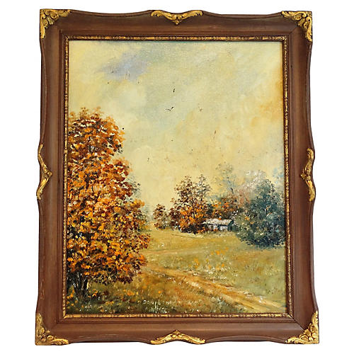 Autumnal Landscape Oil Painting