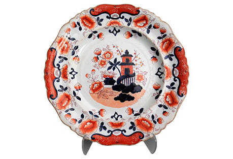Helter Skelter Stone China Plate, C 1830