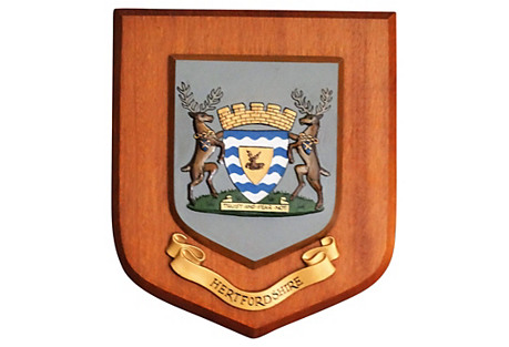 Hertfordshire Crested Wall Plaque