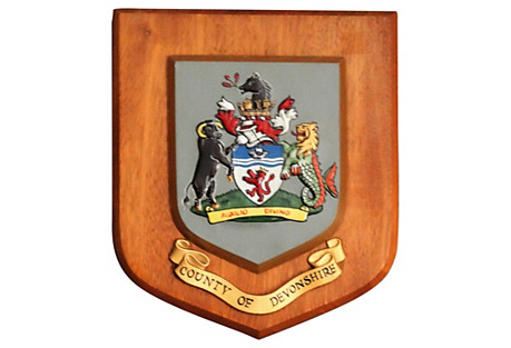 County of Devonshire Crested Wall Plaque