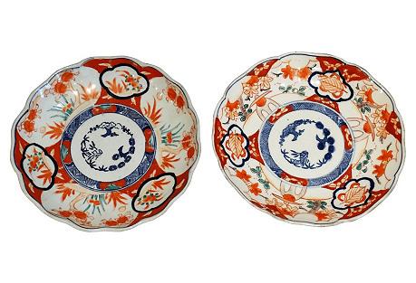 Japanese Imari Plates, S/2