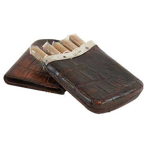 19th-C Gent's Crocodile Cigar Case