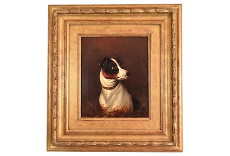 Antique Terrier Dog by Colin G. Roe