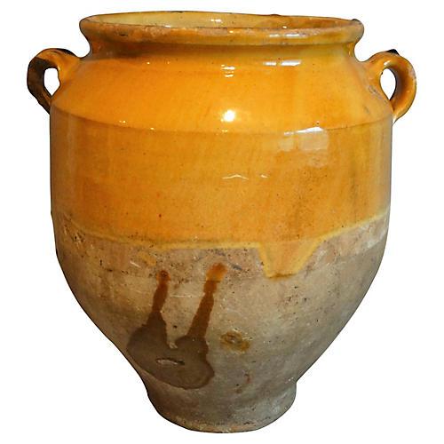Antique French Provencal Confit Pot