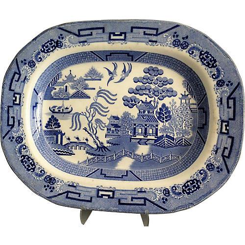 Antique Staffordshire Platter