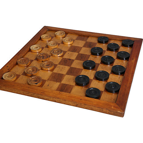 Large Antique English Game Board