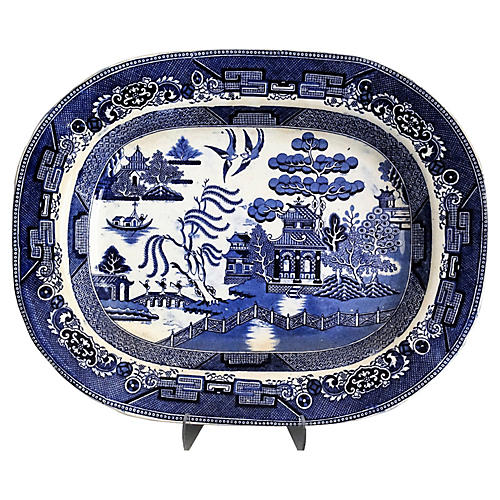 19th-C. Staffordshire Platter