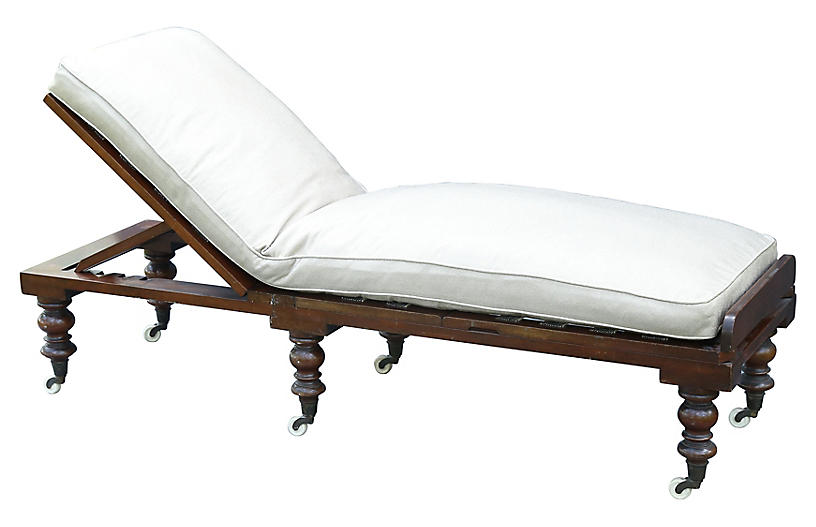 English mahogany chaise longue faded rose antiques llc for Chaise longue rose fushia