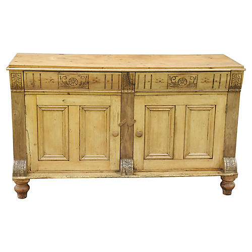 English Pine Sideboard, C.1880