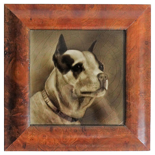 Terrier Dog Tile, George Cartlidge