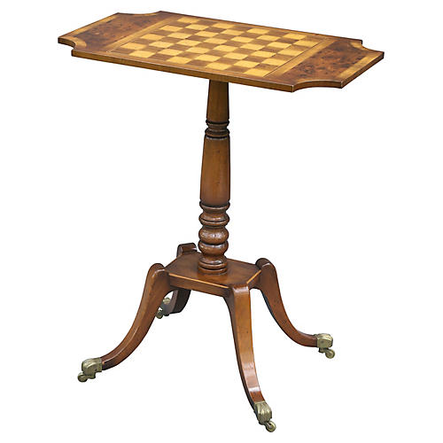 English Walnut Game Table